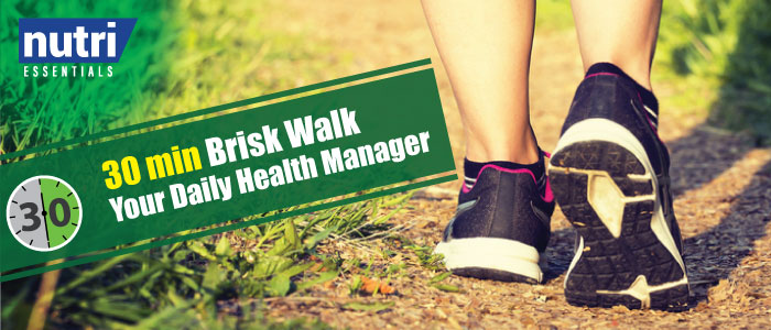 30 min Brisk Walk – Your Daily Health Manager