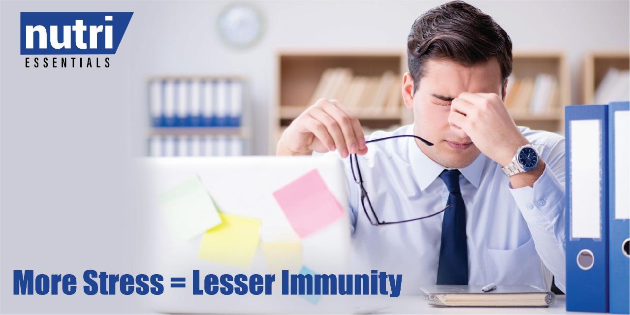 More Stress = Lesser Immunity